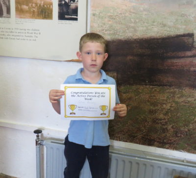 Active Person of the Week-Junior Section 10th May